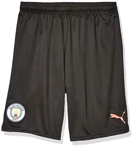 PUMA Mens Manchester City Licensed Replica Shorts 2019-2020 Small, PUMA Black/Georgia Peach