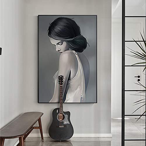 Abstrakte geometrische Kunst Leinwand Wohnzimmer Schlafzimmer Korridor Studio minimalistische Wandkunst,Rahmenlose Malerei,40X60cm