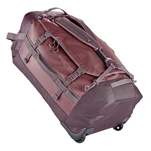 Eagle Creek Cargo Hauler Wheeled Duffel, faltbare Reisetasche mit Rollen, großes Duffle Bag, abrieb- & wasserbeständiges TPU-Gewebe, Rucksacktragegurte, Rot (Earth Red), 110 L