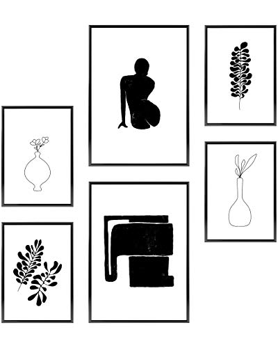 Heimlich Cuadros Decorativos - SIN Marcos -Decoración Colgante para Paredes de Sala, Dormitorios y Cocina - Arte Mural - 2 x A3 & 4 x A4-30x42 & 21x30 | » Modern Muse «