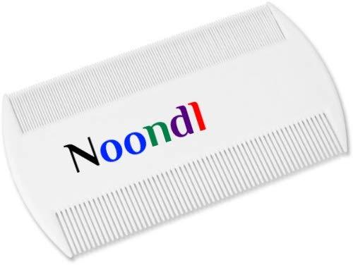 Noondl Peigne à lentes double bord en plastique pour toute la famille Blanc(Pack of 2)