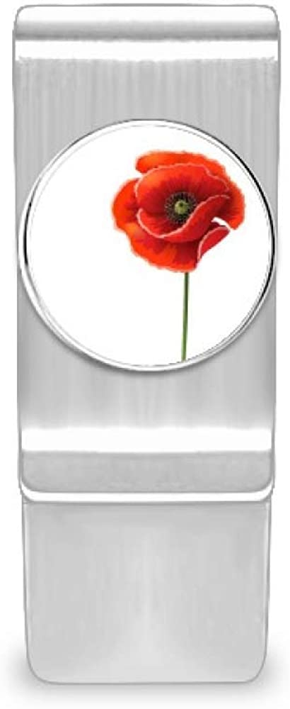 Red Flower Art Painting Brand new Corn Poppy Money Cash Wa Clip Gorgeous Simplicity