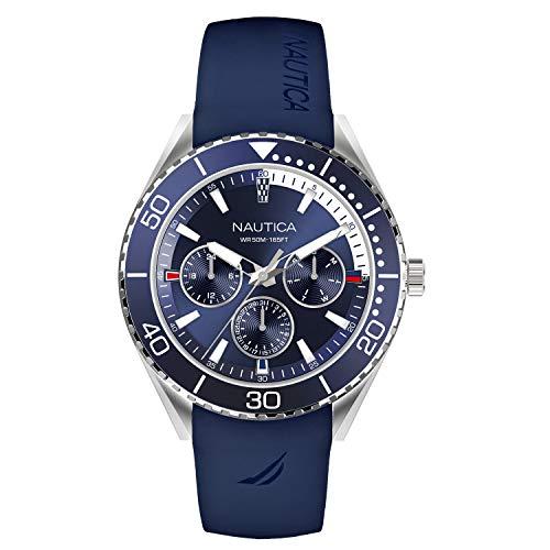 Nautica Men's Cruise Nac 10 NAPNAI801 Blue Silicone Quartz Fashion Watch