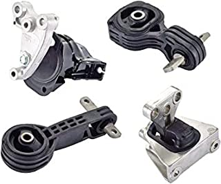 JSP Brand | 4 Pcs Engine & Transmission Motor Mounts | Honda Civic 2006, 2007, 2008, 2009, 2010 & 2011 | OEM: 50850-SNA-A8...