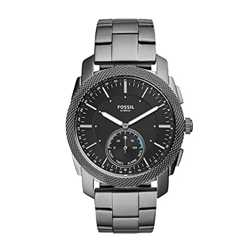 Fossil Herren Analog Quarz Uhr mit Edelstahl Armband FTW1166