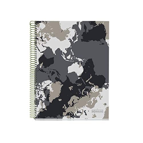 Miquelrius 46005 - Cuaderno A4, 140 Cuadrícula Mapamundi