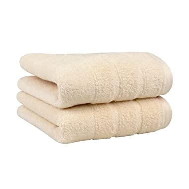 Luxury Hand Towel 2-Pack, Made in the USA with 100% Cotton from Africa – Made Here by 1888 Mills, Ivory