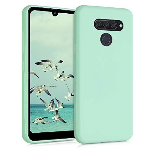 kwmobile Custodia Compatibile con LG Q60 - Cover in Silicone TPU - Back Case per Smartphone - Protezione Gommata Menta Matt