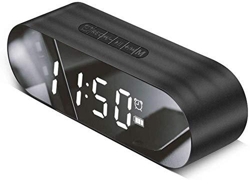 teapotmll Mechanische en wind tot klok Desktop wekker Digitale wekker Mirror Alarm Klok Bluetooth Speaker Desktop Laptop Subwoofer Kleine Geluid (Kleur: Rood)