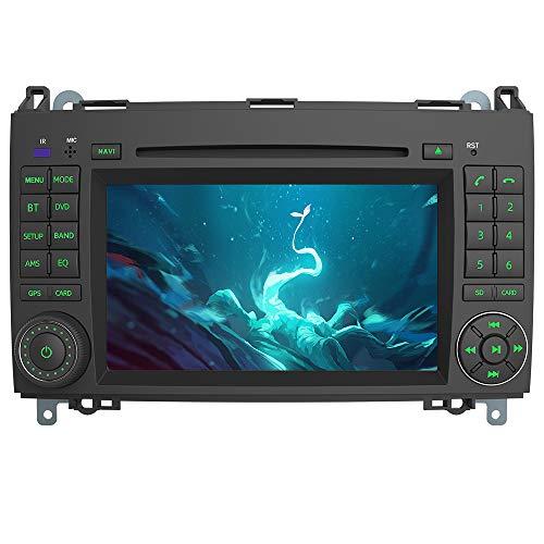 AWESAFE Autoradio mit Navi für Mercedes-Benz A Klasse/B Klasse/Vito/Sprinter Unterstützt DAB+ Bluetooth CD DVD RDS Radio 2 Din 7 Zoll Bildschirm