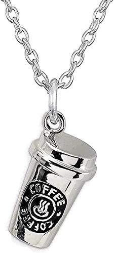 NC110 Collar para Mujeres Hombres Collar Simulación Chocolate Leche Galleta Taza de café Colgante Collar Amistad Joyería Collar Colgante Collar Colgante Collar