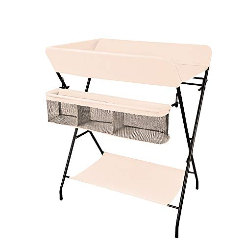 Best Buy! HANSHAN Bedding Changing Table,Multifunction Baby Care Station Newborn Bed Massage Touch A...