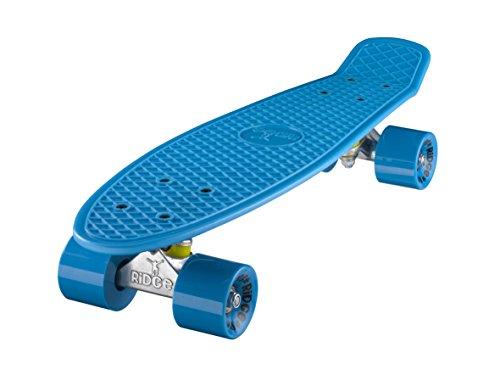 Ridge Skateboard Mini Cruiser, blau-blau, 22 Zoll, R22
