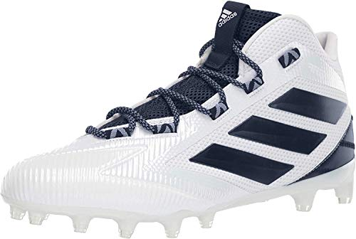 adidas Men's Freak Carbon Mid Football Shoe, White/Collegiate Navy/Noble Indigo, 17 Medium US