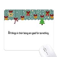彼らの中ですべてのものを何のために良いスローガン ゲーム用スライドゴムのマウスパッドクリスマス