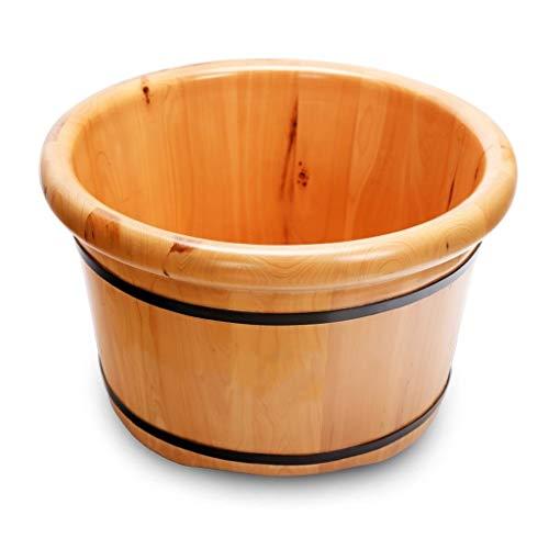 CHY Foot Spa, Pieds Baignoire en Bois for Massage Pieds Et Soaking Pédicure, Pédiluve Seau Et Soaker Bowl (Color : A)
