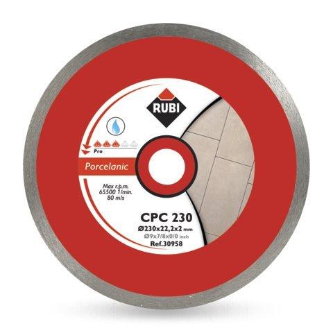 Rubi CPC 230 PRO - Disco de diamante para gres porcelánico continuo (230 mm)