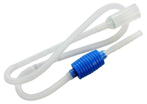 BPS® Limpiafondos Acuario Accesorio Sifón Limpieza Pecera Tubo Saca Agua Bomba Manual Cambiador el Agua 2 Dimensiones 170/207cm para Elegir (Blanco 170cm) BPS-6594*1
