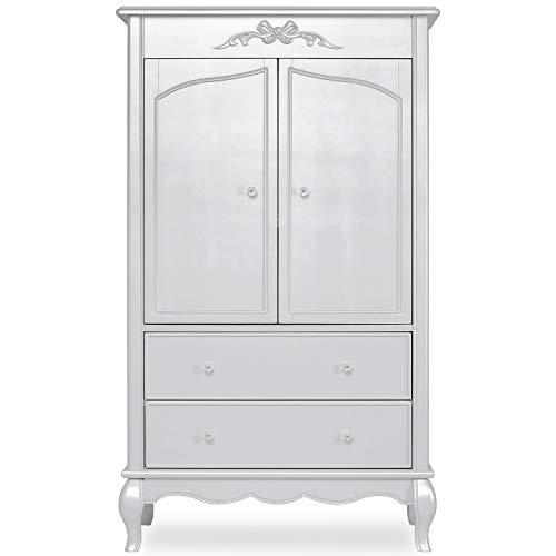 Cheapest Prices! Evolur Aurora Armoire in Akoya Grey Pearl/Silver Mist