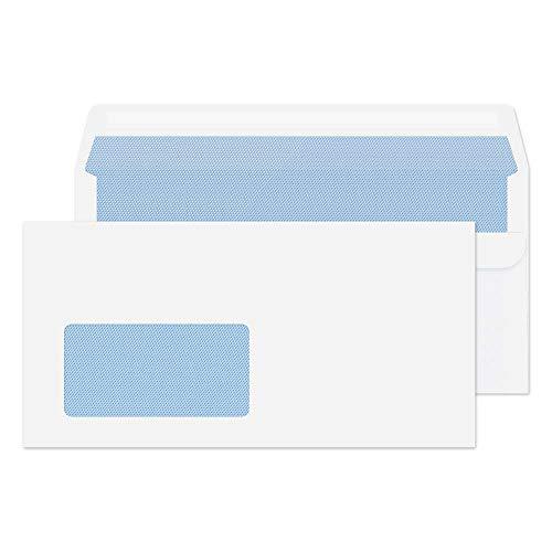 Purely Everyday 12774 Briefumschläge Selbstklebend Weiß Deutsche Fenster DL 110 x 220 mm - 80g/m² | 1000 Stück