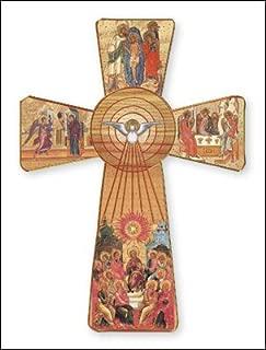 Pentagramma da parete intagliato a mano in legno 15/cm da Cornwall Art Prints