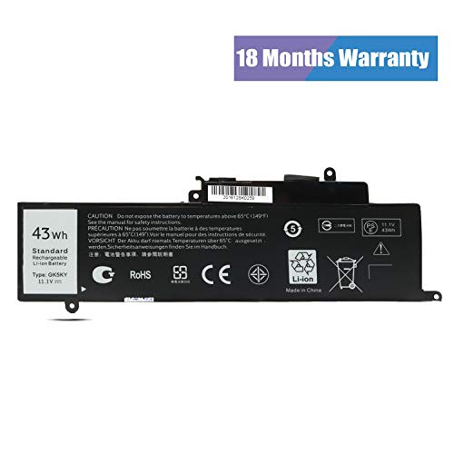 04K8YH GK5KY Battery for Dell Inspiron 11 3147/11 3000/11 3152/13 7347/13 7352 Series,P/N:92NCT 092NCT 4K8YH P20T[11.1V 43Wh Emaks