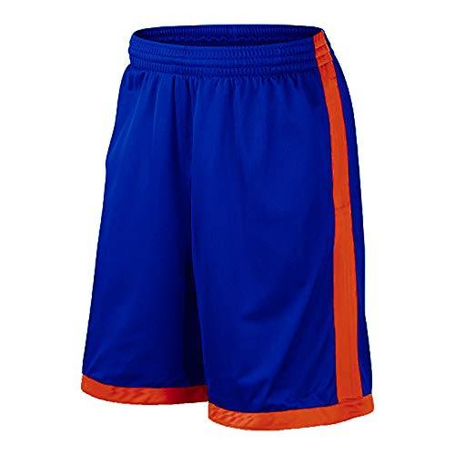 GWBI Herren Laufen Basketball Sport Kurze Hosen Dünne, atmungsaktive Fitness Lose Trainingsshorts mit Tasche Quick Dry Lightweight Gym Shorts-blue2-L