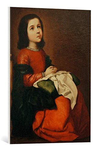 Kunst für Alle Cuadro en Lienzo: Francisco de Zurbaran The Childhood of The Virgin c 1660' - Impresión artística, Lienzo en Bastidor, 55x75 cm