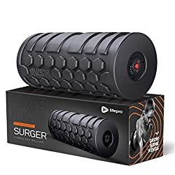 Electric High Intensity Muscle Roller Vibrating Foam Roller with a Carry Bar
