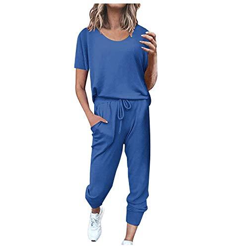 2 StüCk Damen Fitness Yoga Anzug Sportswear Jogginghose Anzug Gepolsterte BH Gym Push-Up üBung Leggings Anzug Frauen Home Sportswear