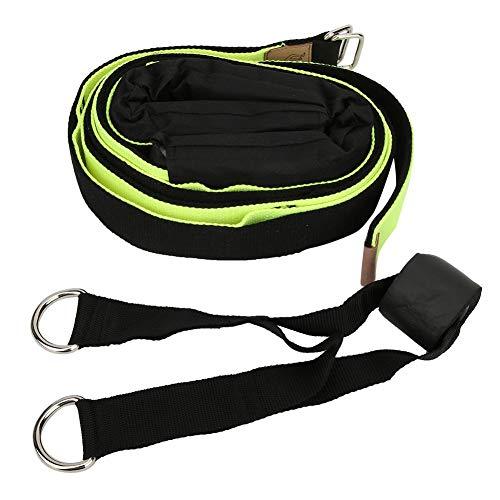 AMONIDA Cintura Elastica con Piega Posteriore Verde/Nera di Alta qualità, Cintura Elastica per Yoga Efficace, Accessori aggiuntivi Finesse per Yoga per Yoga