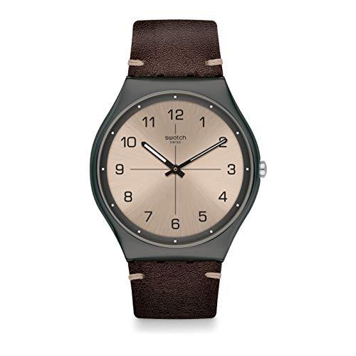 Swatch Time to Trovalise SS07M100 Reloj de cuarzo para hombre con esfera plateada