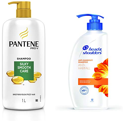 Pantene Silky Smooth Care Shampoo, 1L and Head & Shoulders Anti Hairfall...