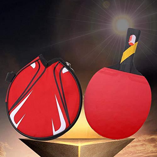 Bate de Tenis de Mesa Profesional portátil, Raqueta de Ping Pong, para Principiantes de Jugadores de Tenis de Mesa Aficionados