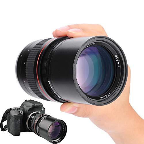 Topiky 135mm F2,8 Objektiv, DSLR Vollformat Teleobjektiv mit großer Blende und manuellem Festfokus für Canon EF und Nikon F Kameras(für Nikon F)