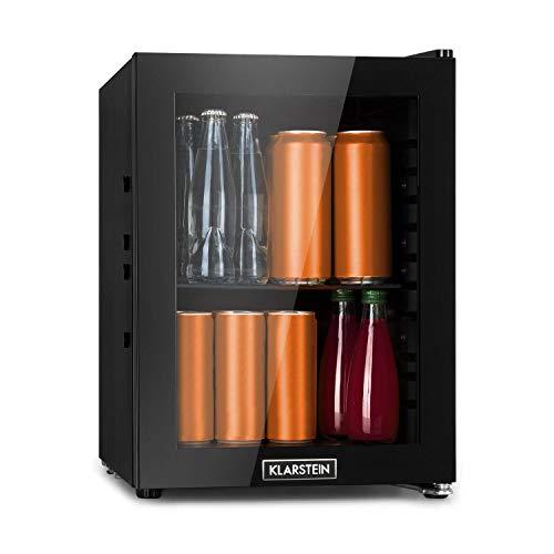 KLARSTEIN MilkySafe Mininevera, refrigeración por compresión, 23 litros, 5 Niveles de refrigeración: 0-10 °C, Clase de eficiencia energética F, bajo Nivel de Ruido: 39 dB, Negro