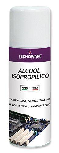 Tecnoware Power Systems Easy Service ALCOOL ISOPROPILICO - Spray da 200 ml - Azione rapida per la pulizia di schede elettroniche, testine, mouse, tastiere - Non lascia aloni