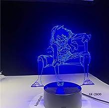 3D Led One Piece Luffy Lámpara De Mesa Interruptor Táctil Luz Nocturna Anime Usb 7 Colores Atmósferas Decoración Iluminación Decoración Regalos