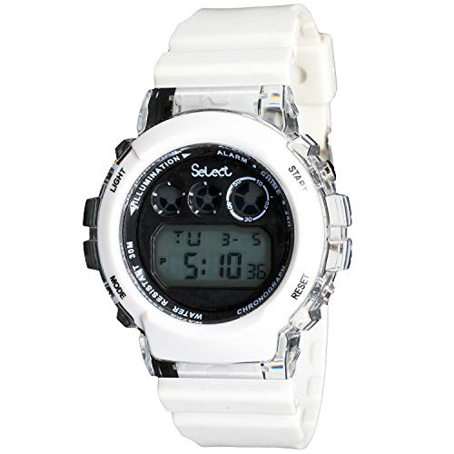 Select St-7543-98625 Reloj Digital para Hombre Caja De Resina Esfera Color Negro