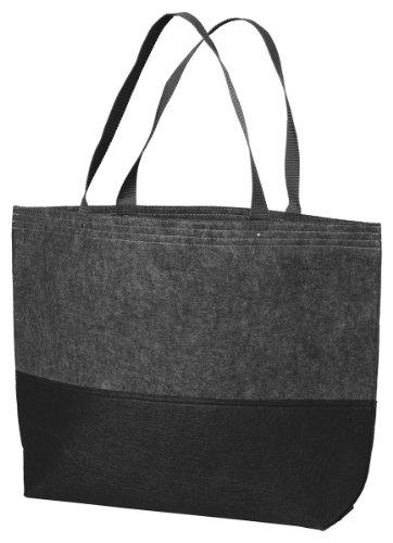 Port Authority Colorblock Large Felt Tote Bag_Ft Char/Black_One Size