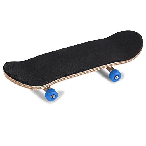 Haokaini 1Pc Mini Vinger Skateboard, Esdoorn Houten Legering Vingerbord, Ultieme Sport Training Props met Box verminderen druk geschenken