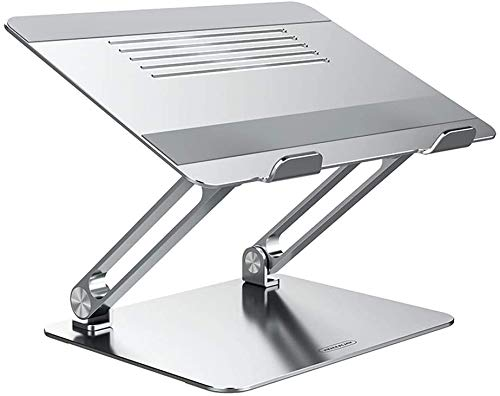 Laptop Stand, Adjustable Laptop Riser, Heat Dissipation Computer Stand, Ergonomic Notebook Stand With Protective Hooks, Compatible With MacBook, Dell, Lenovo, More From 11-17.3'