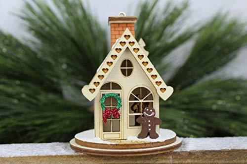KIG Exclusives Ginger Cottages Gingerbread Cottage Wood Christmas Village House