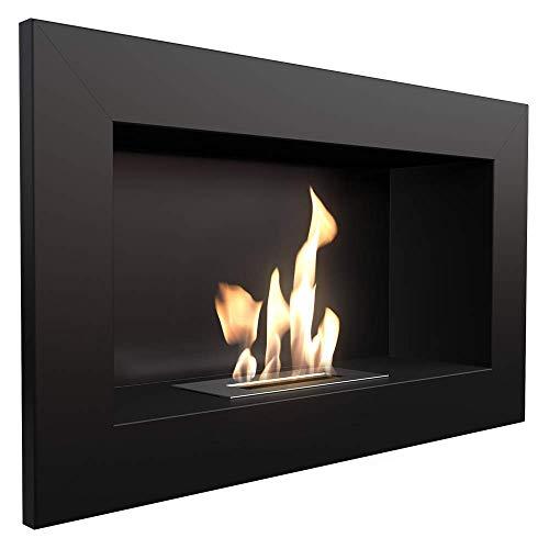 KRATKI bio Fireplace Decorative Wall Fireplace Golf Black 374mm x 648mm TÜV - Rhineland Approved