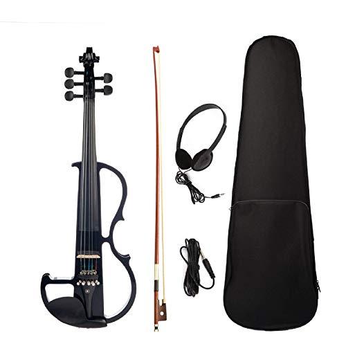 Violino 4/4 Full Size Violino Elettrico Violino Violino 5 Corde Silenzioso Accessori Per Principianti Studente (Dimensioni: Formato Libero; Colore: Nero)