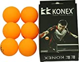 KONEX 40 mm Table Tennis Balls(Pack of 6 Orange Ball)