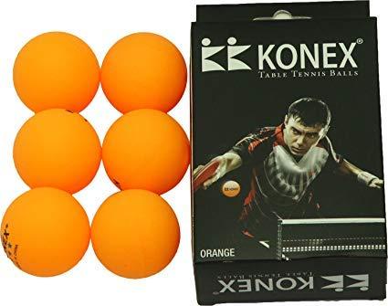 KONEX 40 mm Table Tennis Balls(Pack of 6 Orange Ball)