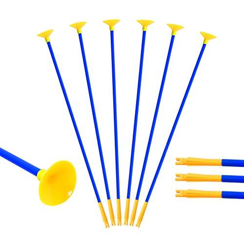 Huntingdoor 12 Stück Kinder Sauger Pfeile Saugnapf Pfeile Kunststoff Bogenpfeile für bogenschießen für Bogen Schießspiel Spielzeug 23 Zoll