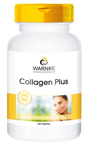 Collagene puro Plus - Con acido ialuronico e vitamina C - 180 compresse - Anti-Age