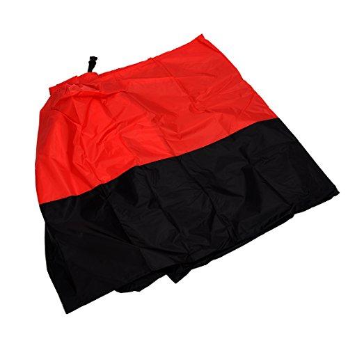 momok Funda Protector de Polyester Cubierta para Moto XXL Negro y Rojo